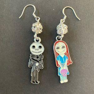 Jack & Sally Disney Nightmare Before Xmas Earrings